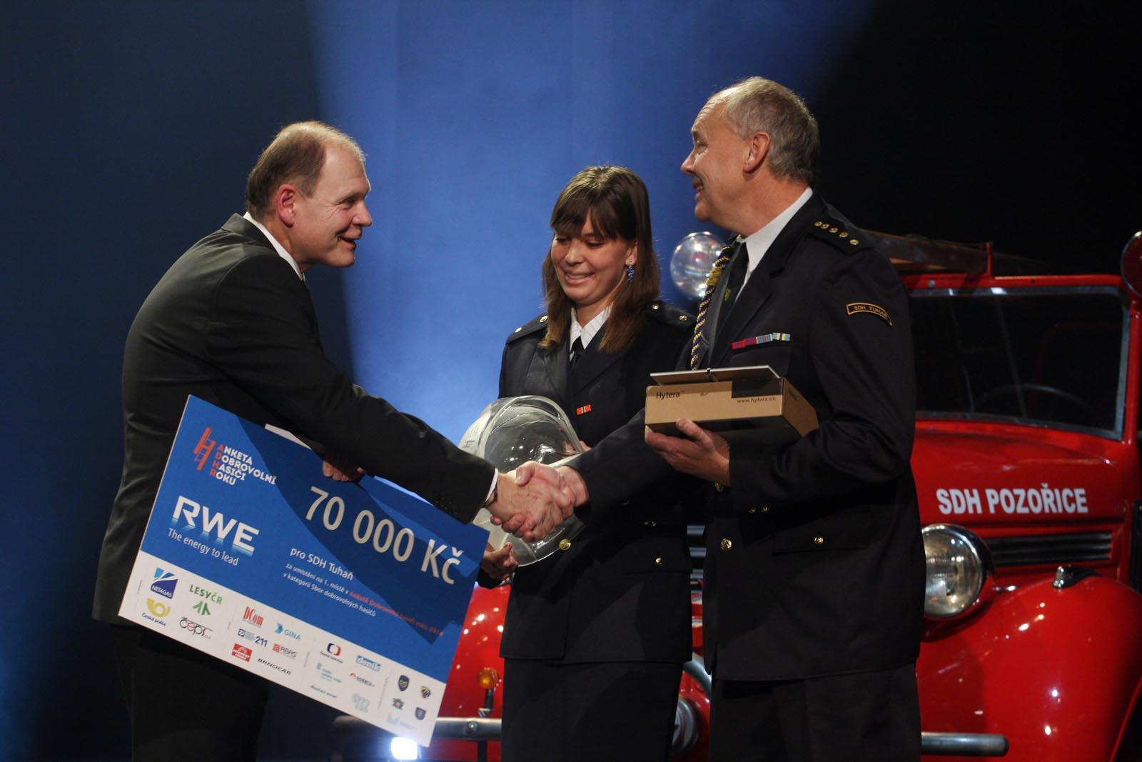 1. místo SDH Tuhaň - vyhlášení výsledků ankety Dobrovolní hasiči roku 2014