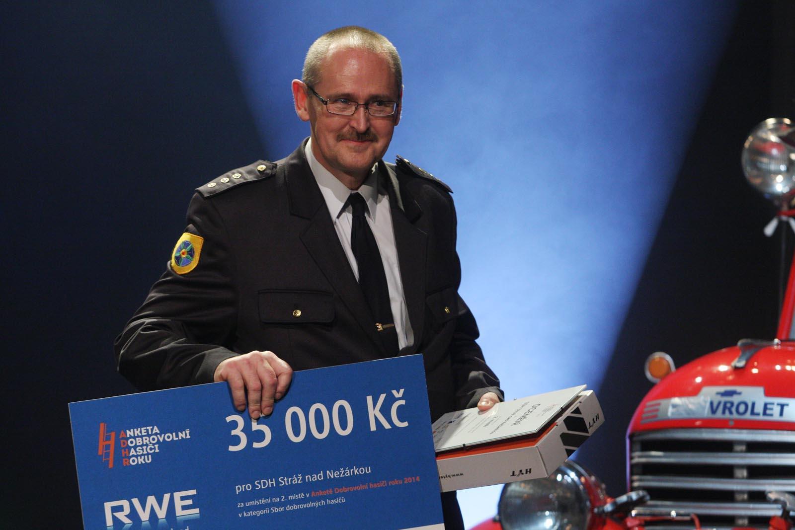 2. místo SDH Stráž nad Nežárkou - vyhlášení výsledků ankety Dobrovolní hasiči roku 2014