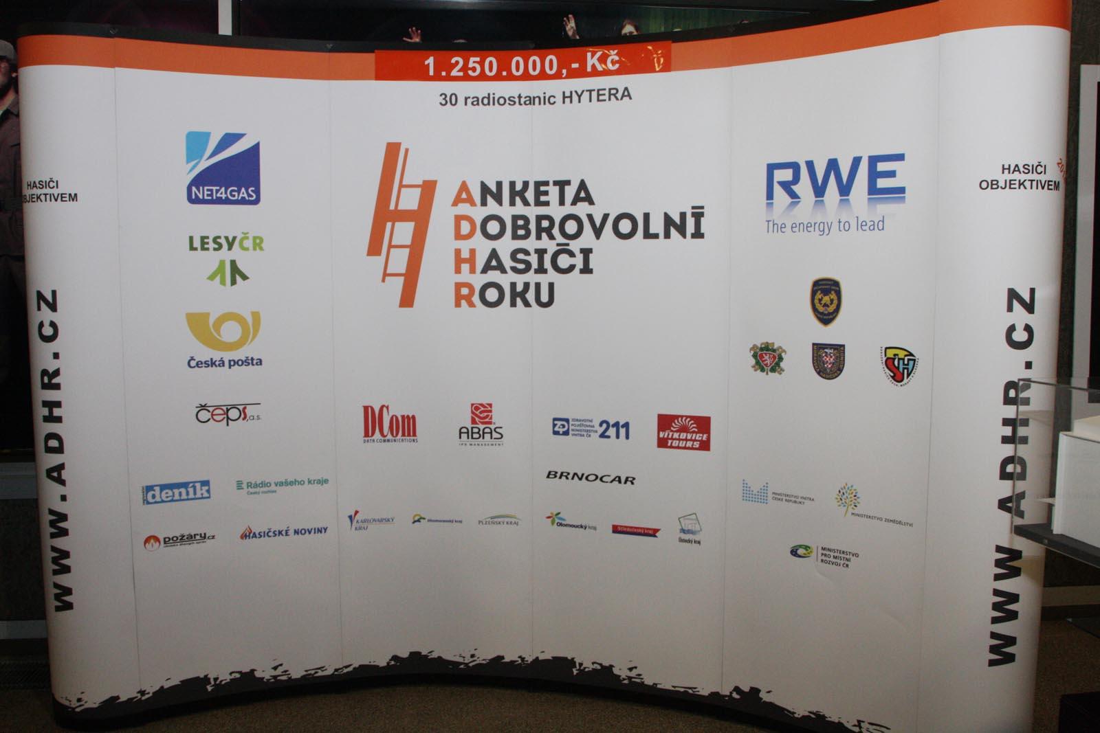 banner -  vyhlášení výsledků ankety Dobrovolní hasiči roku 2014