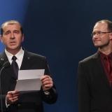 Miloš Hladík - HZS ČR a Petr Šimůnek - Ford Motor Company -  vyhlášení výsledků ankety Dobrovolní hasiči roku 2014