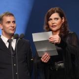 Václav Špéra - HZS ČR a Ilona Csáková - zpěvačka a patronka - vyhlášení výsledků ankety Dobrovolní hasiči roku 2014