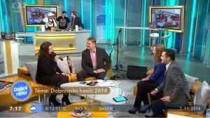 anketa Dobrovolni hasici 2014 v pořadu Dobré ráno ČT 07-11-2014