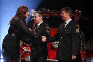 Záznam slavnostního vyhlášení výsledků ankety Dobrovolní hasiči roku 2014 včetně druhých a třetích míst