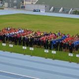 Roadshow ADHR - MČR v požárním sportu mládeže Brno - nástup cvičích družstev