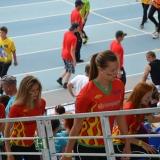 Roadshow ADHR - MČR v požárním sportu mládeže Brno - nástup dívek