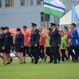 Roadshow ADHR - MČR v požárním sportu mládeže Brno - nástup na travnatou plochu