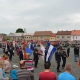 Roadshow ADHR - SDH Velvary 150 let - nástup - průvod vlajek