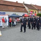 Roadshow ADHR - SDH Velvary 150 let - průvod, pochod hasičů
