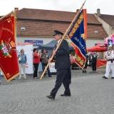 Roadshow ADHR - SDH Velvary 150 let - průvod vlajky sdružení hasičů