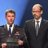 Zdeněk Milan - MHJ a Radek Benčík - NET4GAS - vyhlášení výsledků ankety Dobrovolní hasiči roku 2014